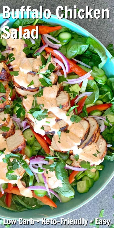 Low Carb Buffalo Chicken Salad