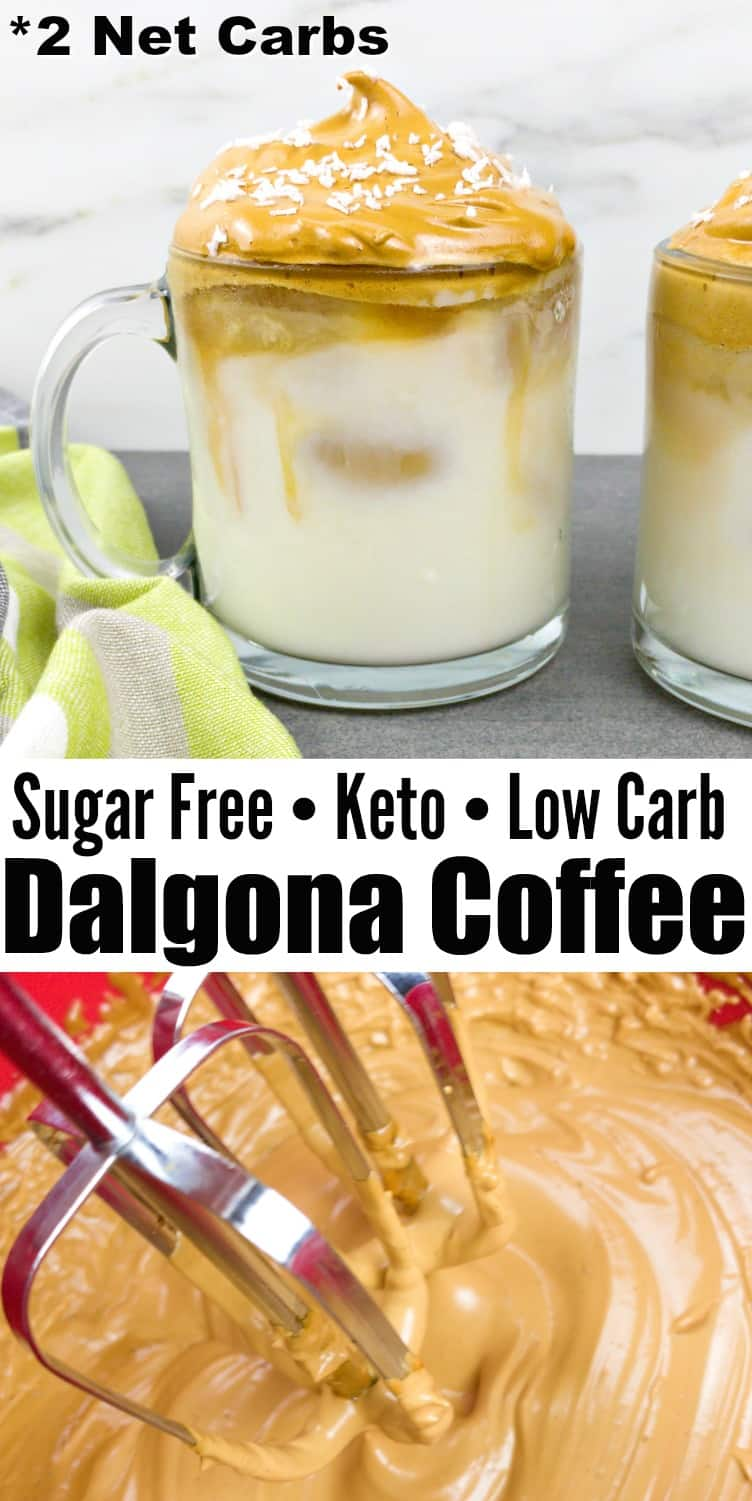 Low Carb Dalgona Coffee Recipe