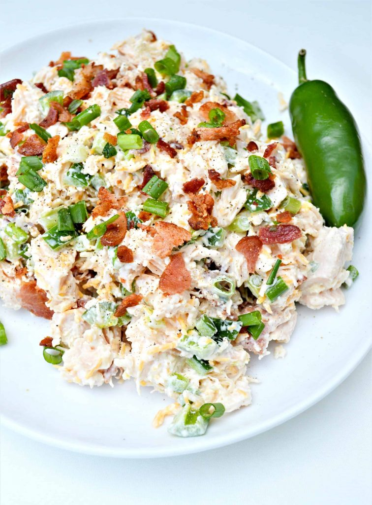 Keto Jalepeño Popper Chicken Salad