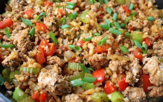 Keto Dirty Cauliflower Rice Recipe