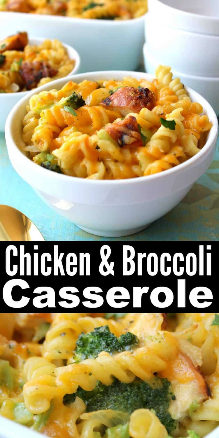 Healthy Chicken Broccoli Pasta Casserole