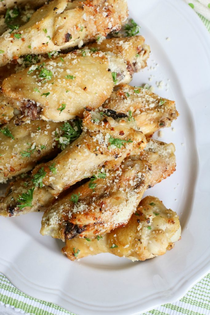 Low Carb Garlic Parmesan Chicken Wings Recipe