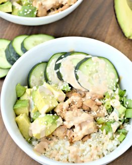Low Carb Tuna Sushi In A Bowl