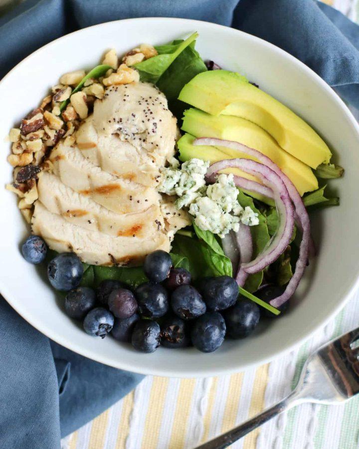 Keto Chicken Salad With Blueberries