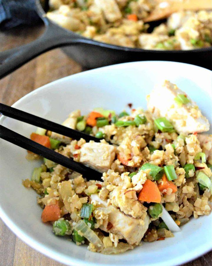 Keto Cauliflower Chicken Fried Rice
