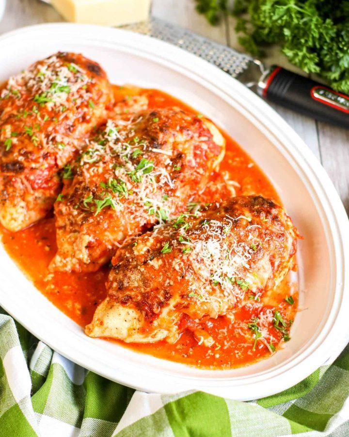 Keto Lasagna Stuffed Chicken Recipe