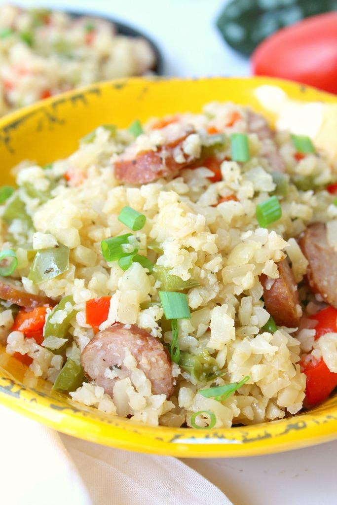 Keto Cajun Cauliflower Rice Recipe