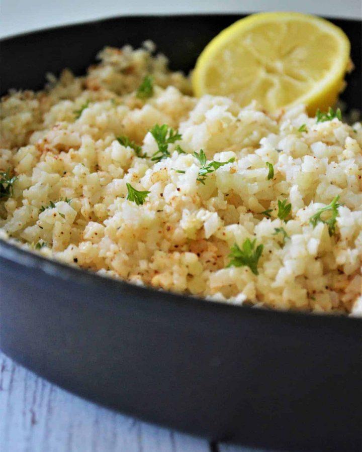 Garlic Butter Cauliflower Rice