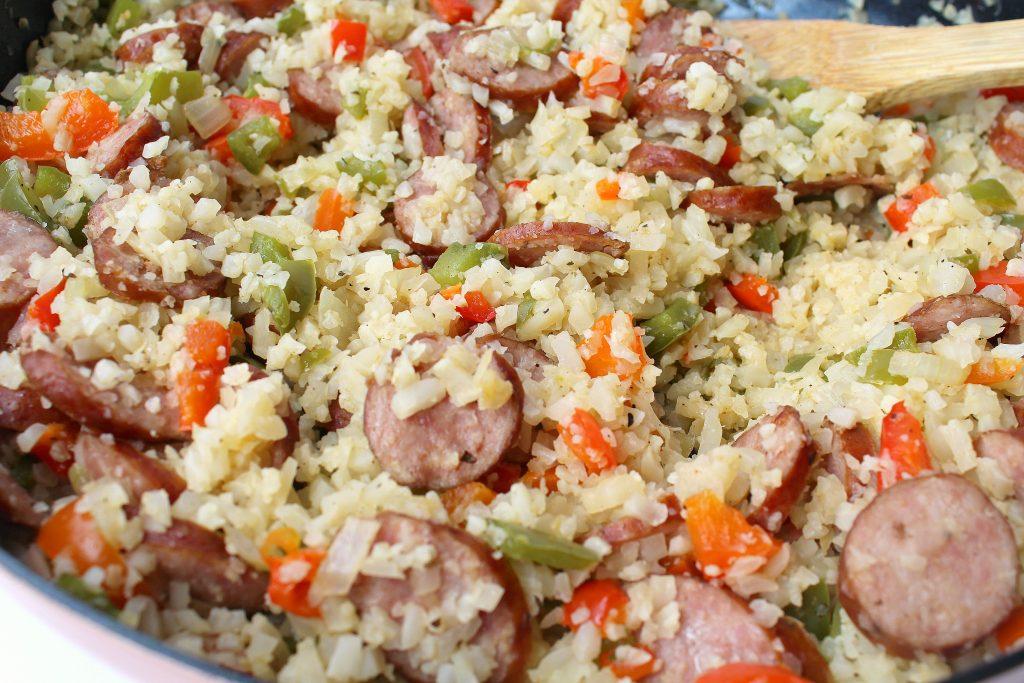Keto Cajun Cauliflower Rice