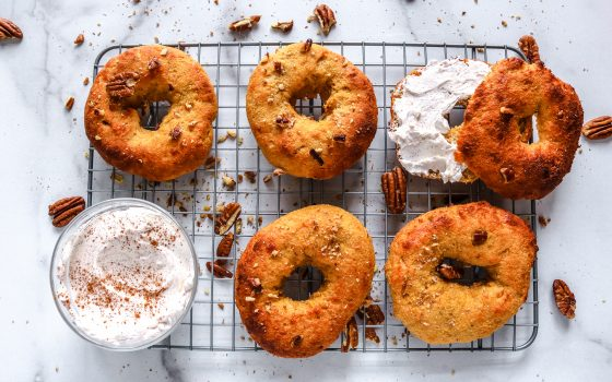 Keto Pumpkin Bagels Recipe