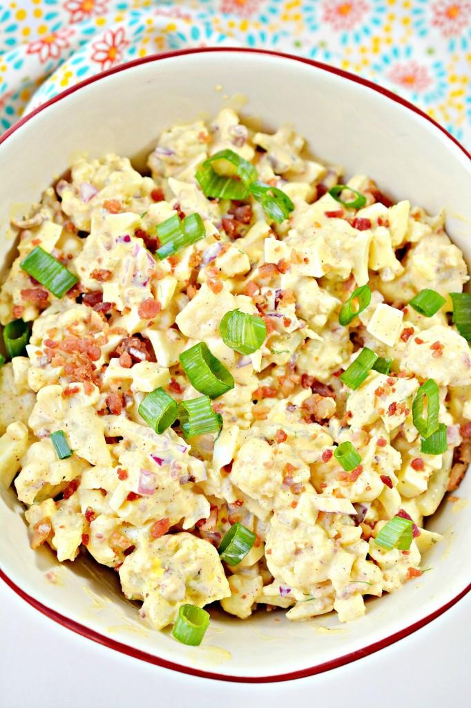Deviled Egg Cauliflower Salad