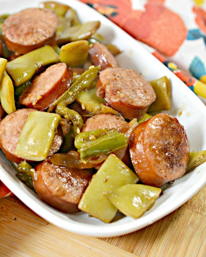 Keto Green Beans With Sausage Skillet Meal