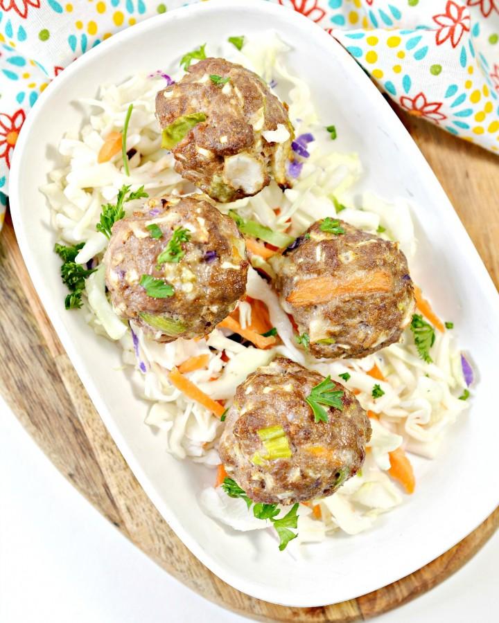 Keto Egg Roll Meatballs Recipe