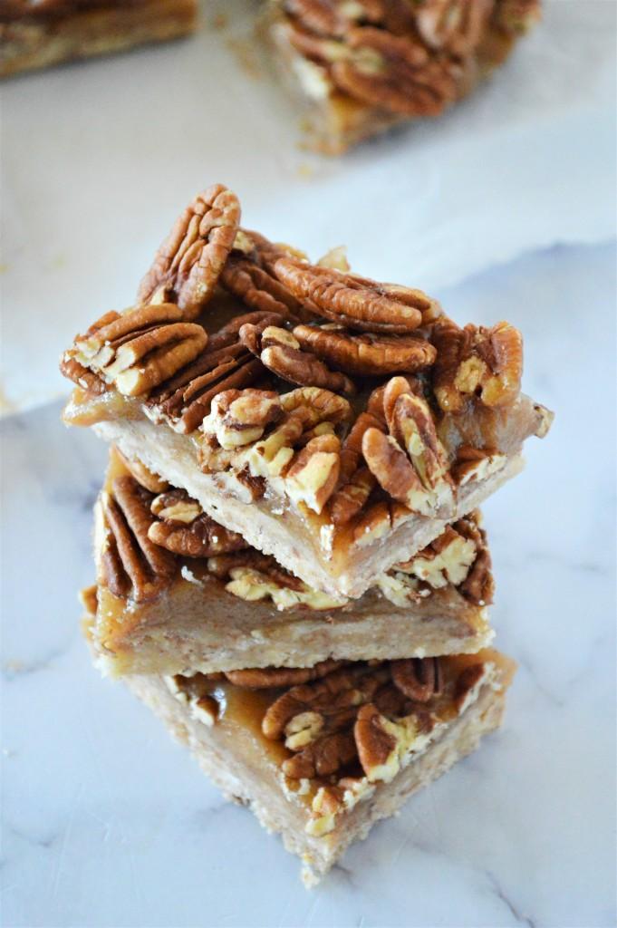 No Bake Keto Pecan Pie Bars Dessert Recipe