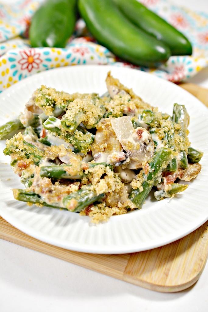 Keto Jalapeno Popper Green Bean Casserole Recipe