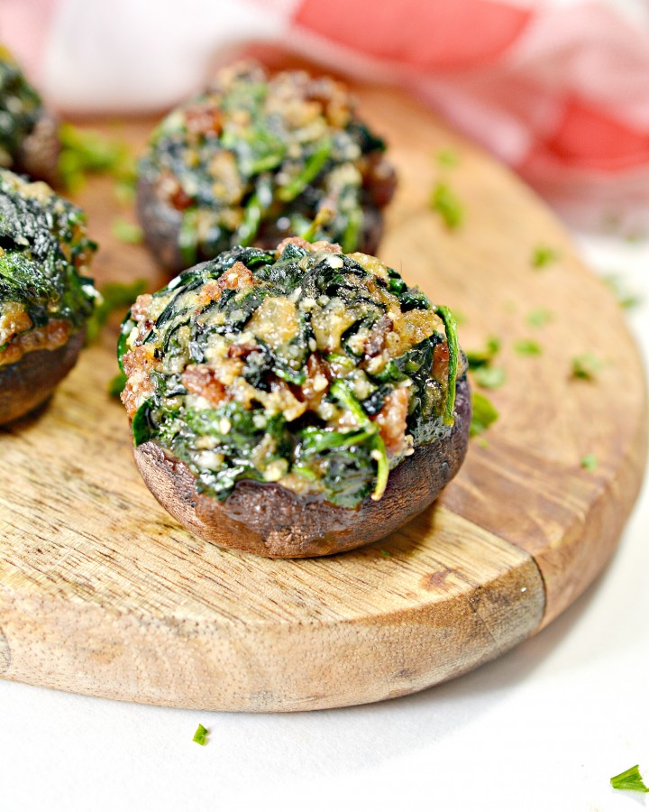 Keto Bacon Stuffed Mushrooms Recipe