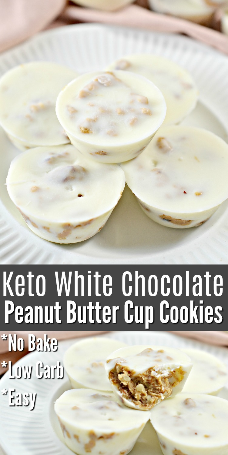 Keto White Chocolate No Bake Cookies