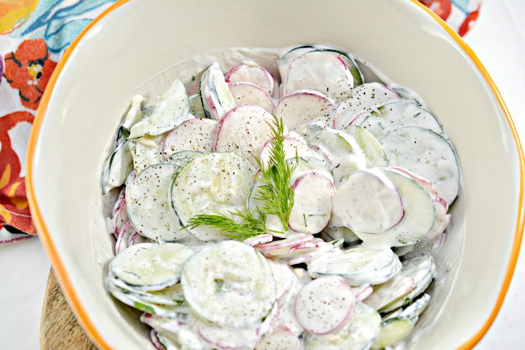 Keto Creamy Cucumber Salad
