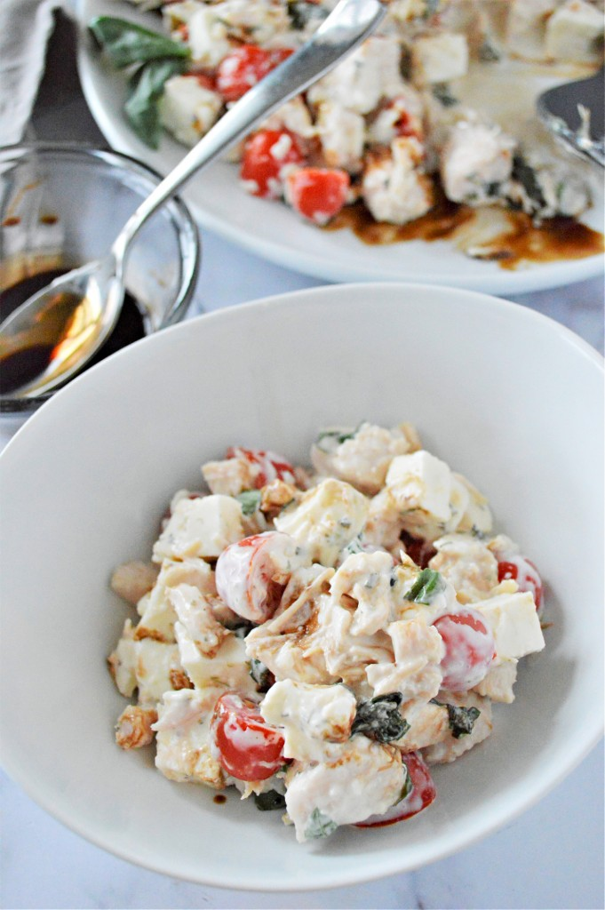 Low Carb Caprese Chicken Salad