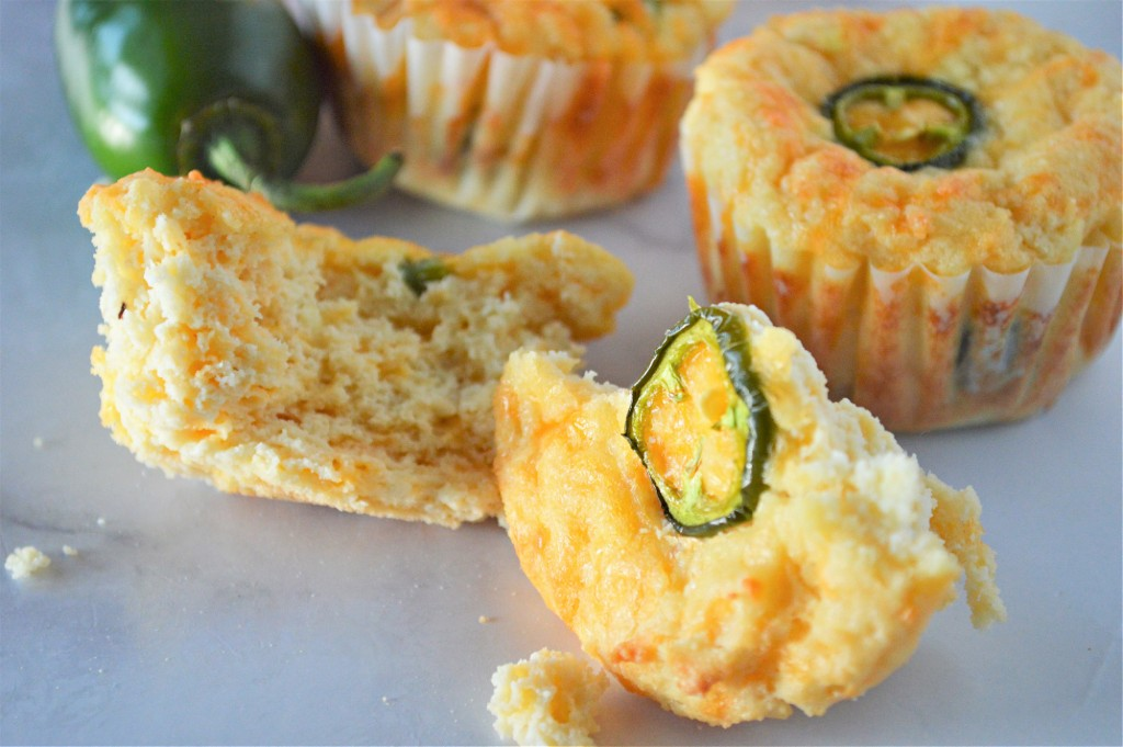 Low Carb Cheddar Jalapeno Muffins