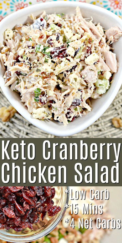 Keto Cranberry Chicken Salad