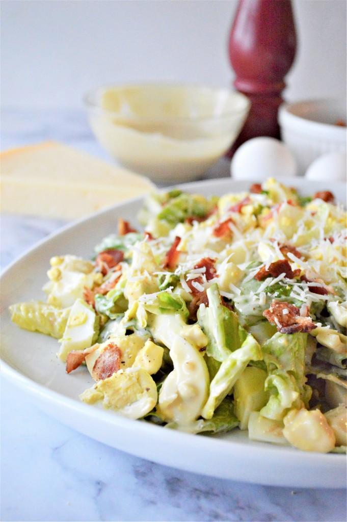 Low Carb Caesar Egg Salad