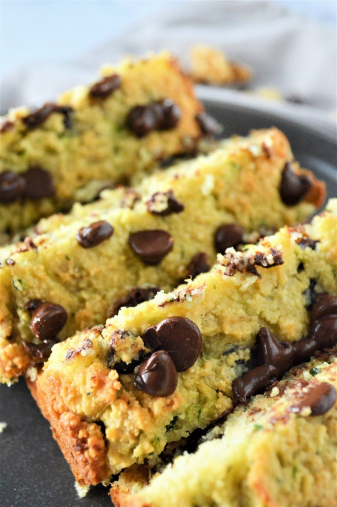 Low Carb Chocolate Chip Zucchini Bread