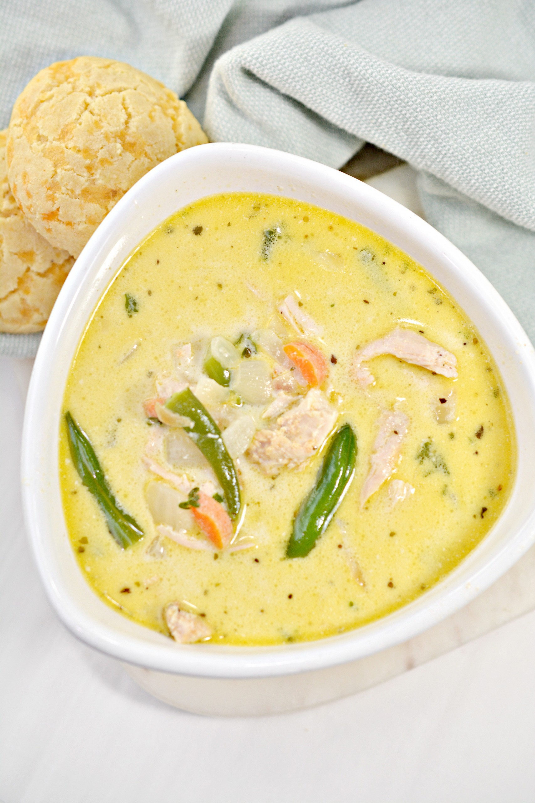Keto Chicken Pot Pie Soup Recipe