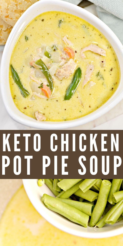 Keto Chicken Pot Pie Soup Recipe