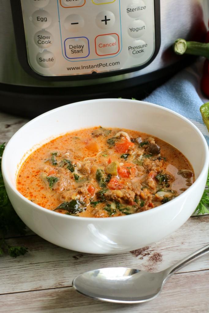 Instant Pot Low Carb Pizza Soup