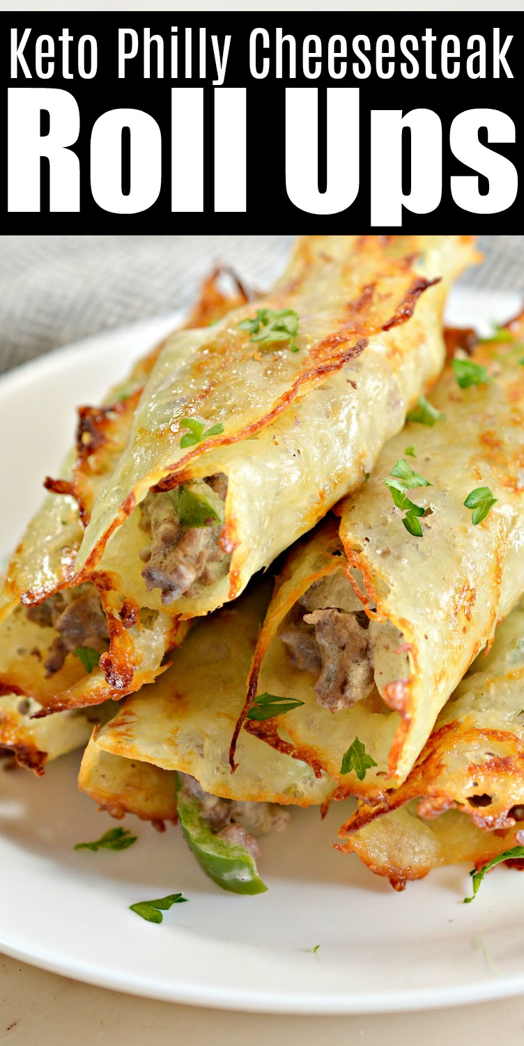 Keto Philly Cheesesteak Roll Ups