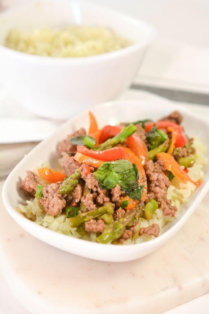 Low-Carb Thai Basil Beef Meal