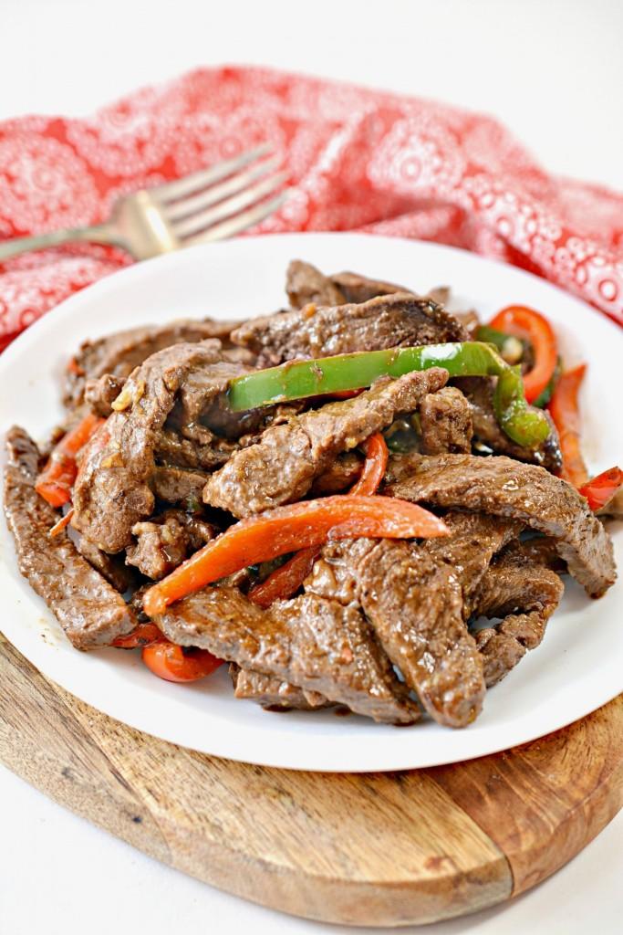 Easy Keto Pepper Steak