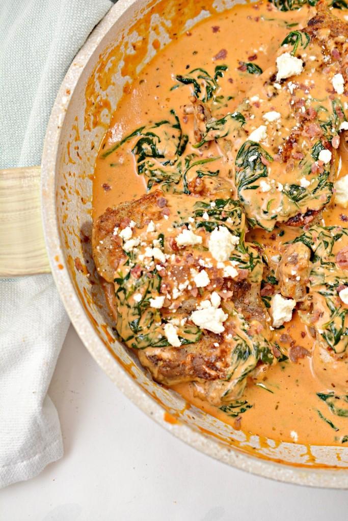 Keto Creamy Garlic Chicken In Tomato Cream Sauce
