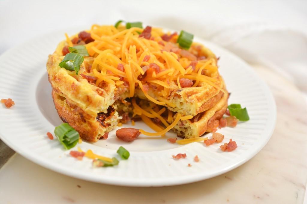 Keto Bacon Egg and Cheese Chaffles
