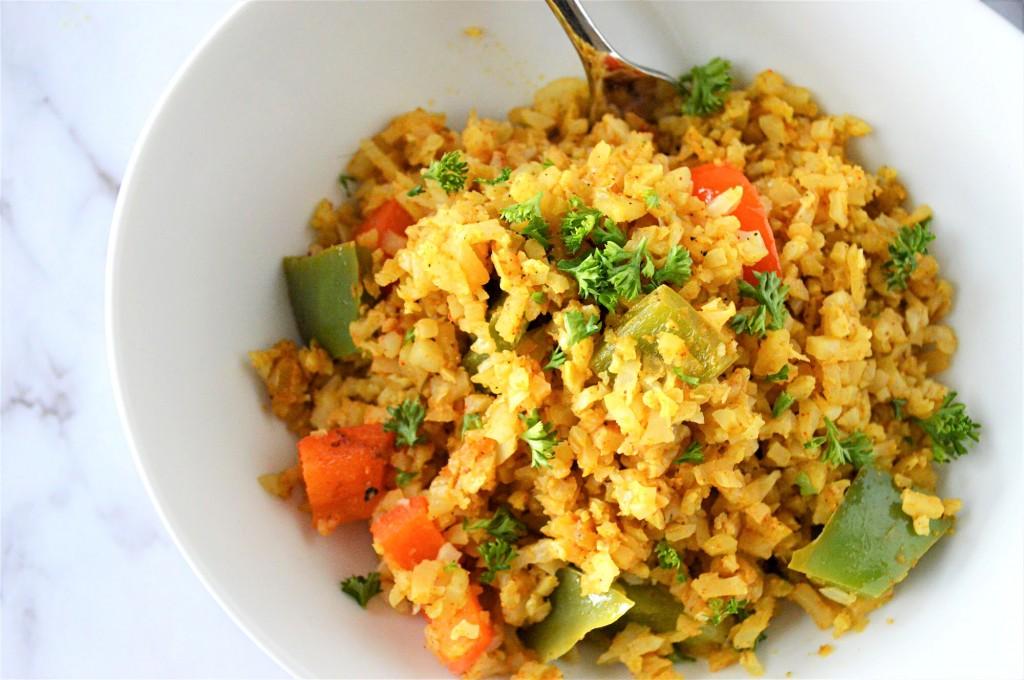 Keto Curry Cauliflower Rice