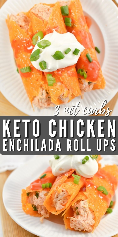 Keto Chicken Enchilada Roll Ups