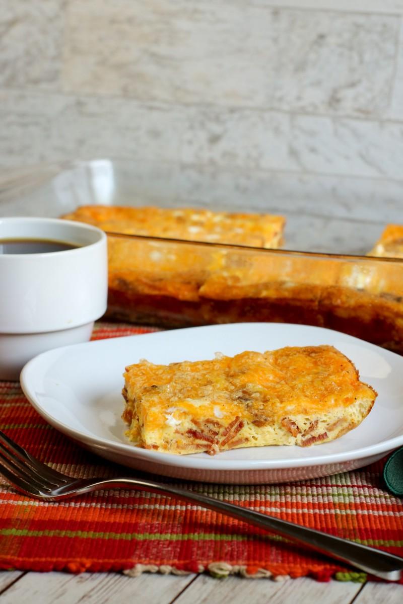 Keto Bacon and Egg Casserole