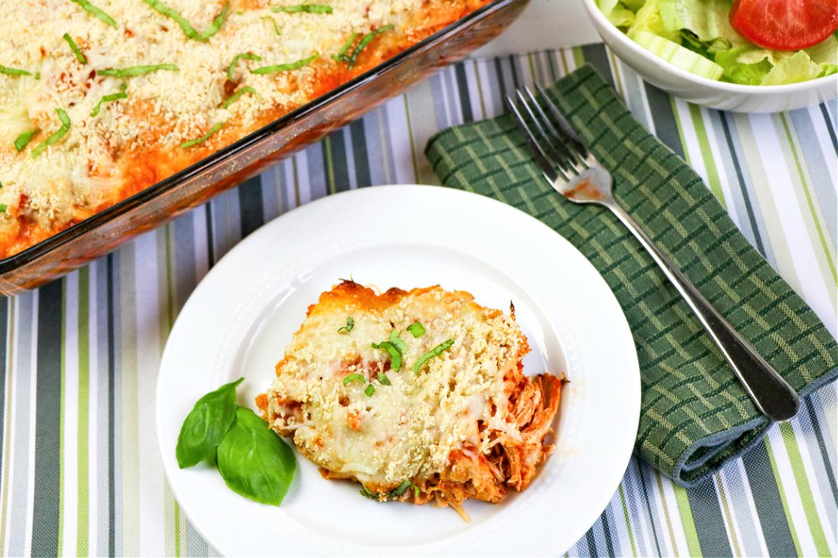 Easy Keto Chicken Parmesan Casserole