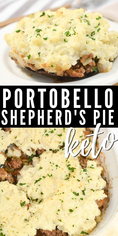 Keto Shepherd's Pie With Portobello Mushrooms