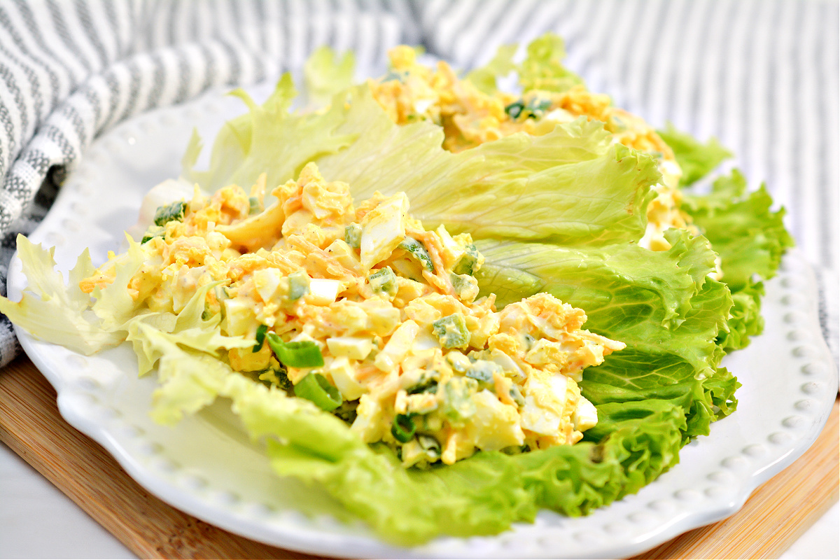 Spicy Egg Salad With Cheddar Cheese and Jalapeno