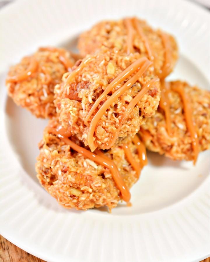Keto Peanut Butter Caramel Cookies - Easy No-Bake Recipe