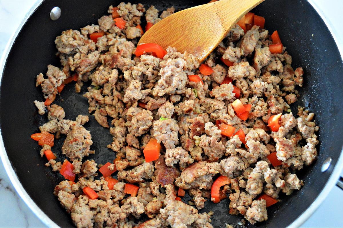 Low-Carb Ground Turkey Stir Fry