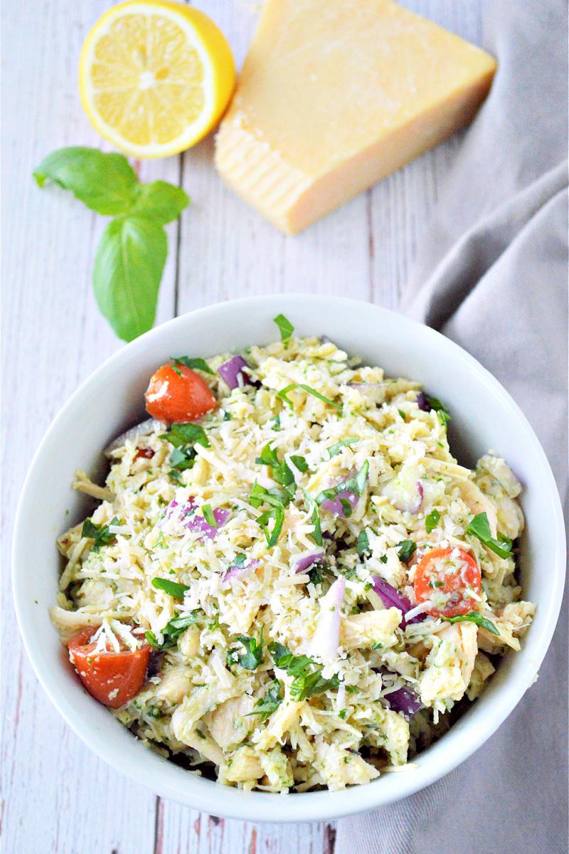 Low-Carb Pesto Chicken Salad