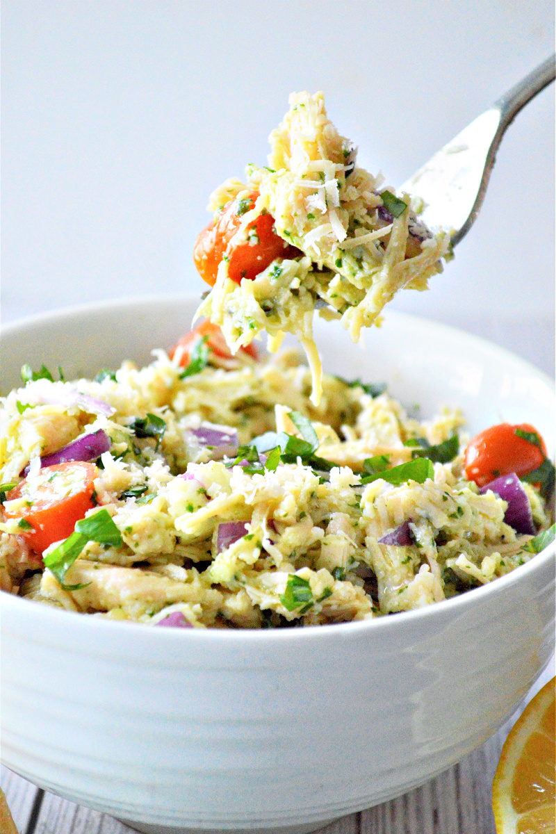 Low-Carb Pesto Chicken Salad