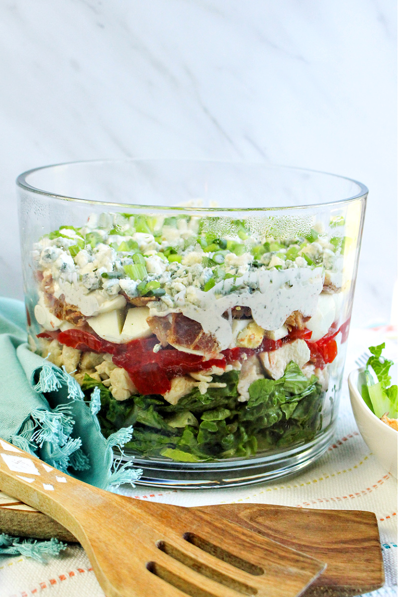 Low-Carb Chicken Cobb Salad Trifle