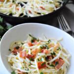 Garlic and Bacon Pasta: Low-Carb Recipe