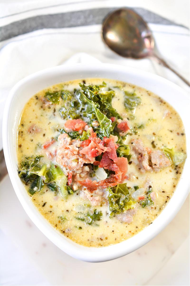Keto Creamy Tuscan Sausage Soup