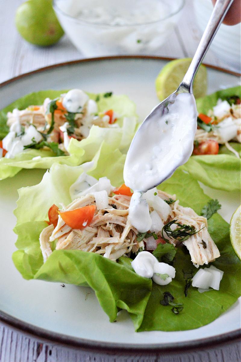 Cilantro Lime Chicken Lettuce Wraps (Low-Carb Recipe)