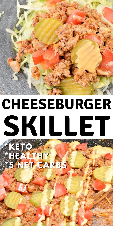 Keto Cheeseburger Skillet